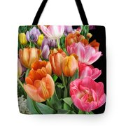 Merry Dresden Style Tulips Tote Bag
