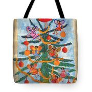 Merry Xmas Tree Fairies Tote Bag