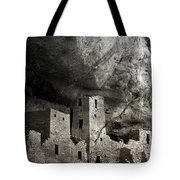 Mesa Verde - Monochrome Tote Bag by Ellen Heaverlo