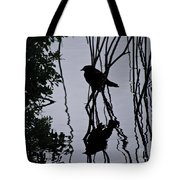 Messy Pond Reflection  Tote Bag