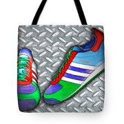 Metal Grate Sport Shoe Tote Bag