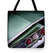 Metalic Green Impala Wing Vingage 1960 Tote Bag
