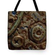 Metallic Wash Clay Pin Tote Bag