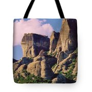 Meteora Greece Tote Bag