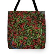 Mexican Peppers At An Open Air Market Tote Bag