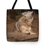Mexican Wolf Howling Tote Bag