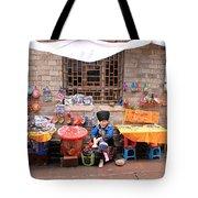 Miao Minority Women Tote Bag by Valentino Visentini