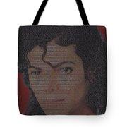 Michael Jackson Songs Mosaic Tote Bag by Paul Van Scott