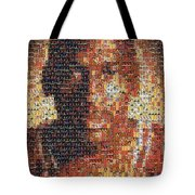 Michael Jordan Card Mosaic 1 Tote Bag
