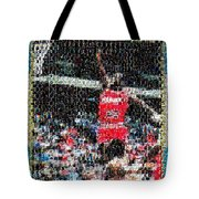 Michael Jordan Rookie Mosaic Tote Bag