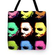 Michael Myers Mask Pop Art Tote Bag