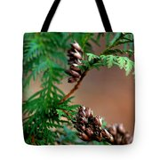 Michigan Cedar Cones Tote Bag