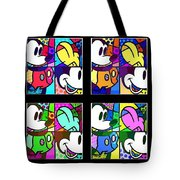 Mickey In Colors Tote Bag