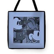 Mickey In Cyan Tote Bag