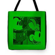 Mickey In Green Tote Bag