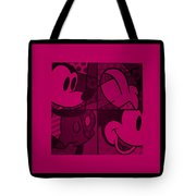 Mickey In Hot Pink Tote Bag