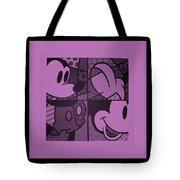 Mickey In Light Pink Tote Bag
