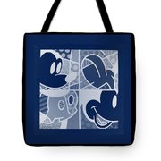 Mickey In Negative Deep  Blue Tote Bag