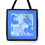 Mickey In Negative Light Blue Tote Bag