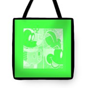 Mickey In Negative Light Green Tote Bag