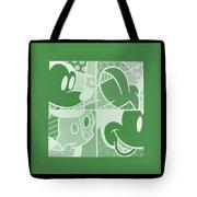 Mickey In Negative Olive Green Tote Bag