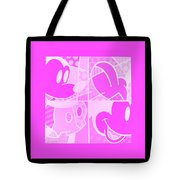 Mickey In Negative Pink Tote Bag