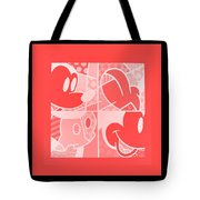 Mickey In Negative Red Tote Bag