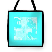 Mickey In Negative Turquois Tote Bag