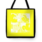 Mickey In Negative Yellow Tote Bag