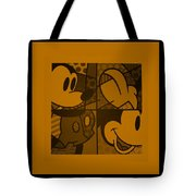 Mickey In Orange Tote Bag