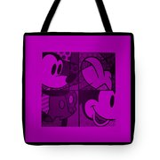 Mickey In Purple Tote Bag