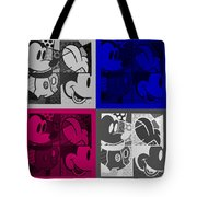 Mickey In Quad Colors Tote Bag