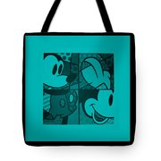 Mickey In Turquois Tote Bag