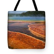 Middle Hot Springs Yellowstone Tote Bag