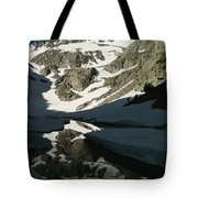 Middle Palisade Peak Reflects In Finger Tote Bag
