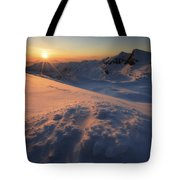 Midnight Sun Above Lilletinden Tote Bag
