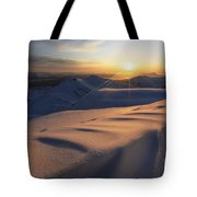 Midnight Sun Over Lilletinden Mountain Tote Bag