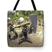 Midshipmen Battle With Pugil Sticks Tote Bag