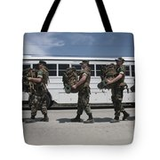 Midshipmen Carry Their Packs And Board Tote Bag