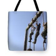 Midshipmen Tackle The Ropes Portion Tote Bag