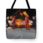 Midshipmen Work Together To Battle Tote Bag