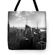 Midtown Skyline Infrared Tote Bag