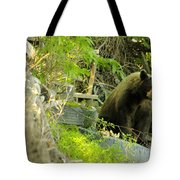 Midway - Backyard Bear Tote Bag
