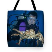 Mike And The Crab Tote Bag