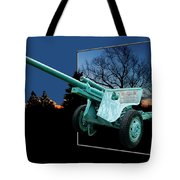 Military Artillery Piece Tote Bag