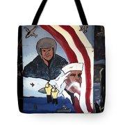 Military Mural Tote Bag