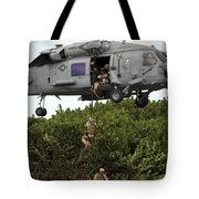 Military Reserve Navy Seals Demonstrate Tote Bag by Michael Wood