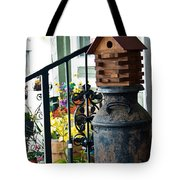 Milkcan And Birdhouse Tote Bag