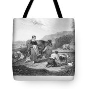 Milking, 17th Century Tote Bag