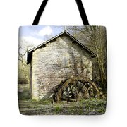 Mill And Water-wheel Near Ashford-in-the-water Tote Bag